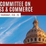 Image for the Tweet beginning: Business & Commerce public hearing
