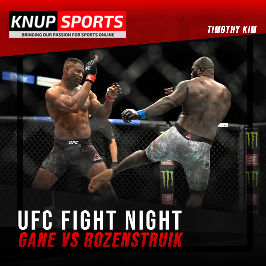 #UFC Fight Night Gane vs Rozenstruik: #CirylGane  will be facing #JairzinhoRozenstruik in Las Vegas this weekend.  Who do you think will win? More on  Don't miss it out!  #UFC #Sports #Betting #FightNight #Sports20 #Knupsports #Gane #Rozenstruik