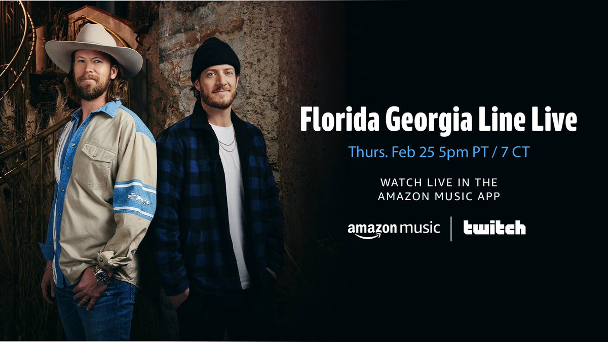 Tonight's the night! Tune in at 5pm PT/7pm CT/8pm ET to catch us live from @FGLHouse on the @AmazonMusic app and on their @Twitch channel. Excited to celebrate #LifeRollsOn and to support @CFMT's #NashvilleNeighbors Fund 🎶