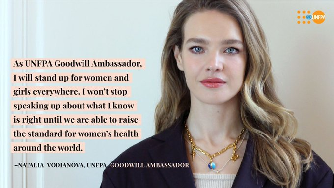 Welcome to the UN family, @NataSupernova!  The supermodel & philanthropist - and new @UNFPA Goodwill Ambassador - will help empower women & girls by tackling the stigma & taboos that surround women's bodies & health.