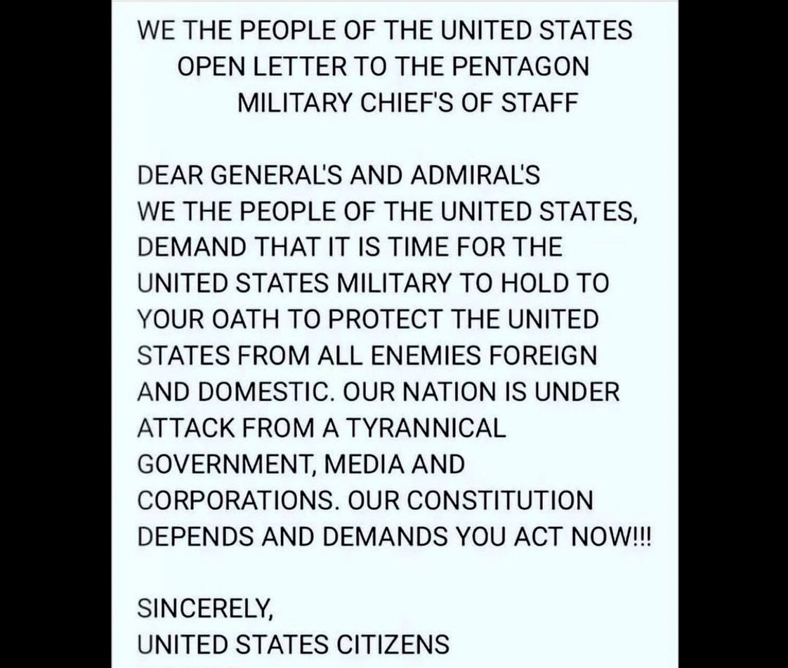 """To Our Great Leaders of the United States Military:  """"Keep your Oath to defend the Constitution or Allow the Democrats Destroy it.""""  RT☑️ #USCG  #usarmy #usmc #usairforce #USNavy #uscoastguard #USA🇺🇸    #WeThePeople #fightback  #1A #DefendTheRepublic  #FreedomIsNotFree #2A"""