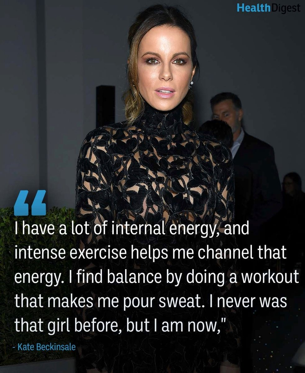 Channel your energy into a good workout today 💪🏼#KateBeckinsale #Celeb #Quotes #Healthy