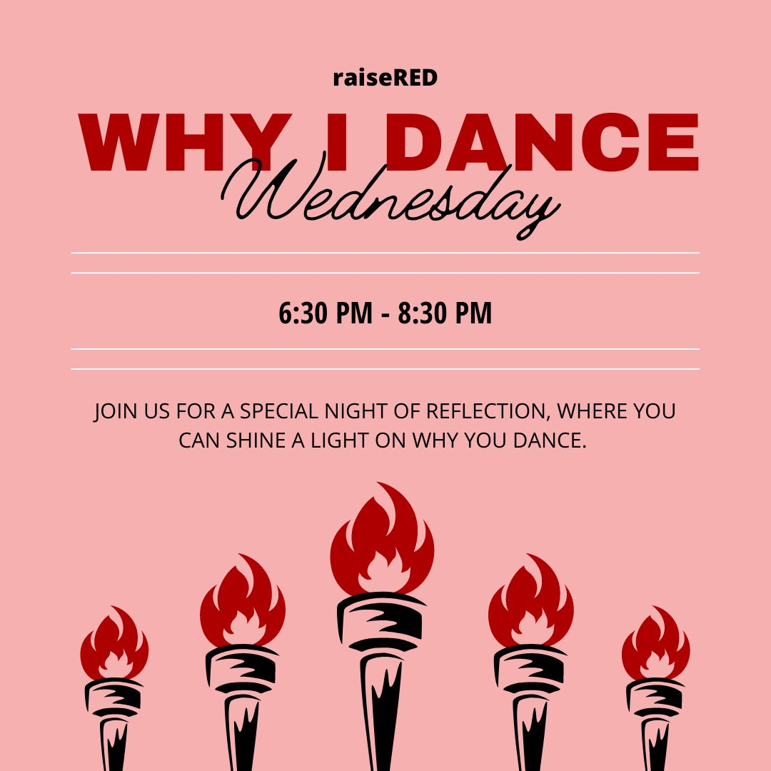 Why I Dance Wednesday will serve as an opportunity to reflect with your color team on why you participate in raiseRED and the impact that cancer and blood diseases have had on your life. It will be held on Microsoft Teams! https://t.co/GinducWDK6 https://t.co/TlJpFBLHEk