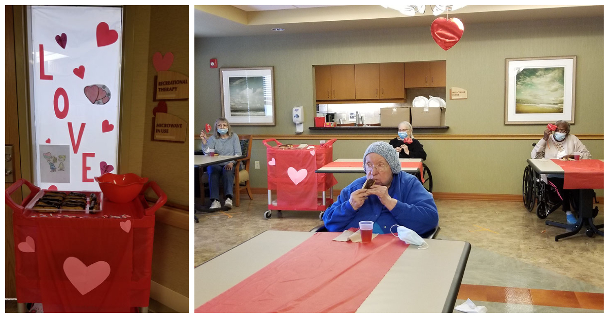 Heartland of Twinsburg (OH) had lots of love to spread this Valentine's Day. To celebrate the holiday the patients and residents enjoyed some sweet treats. #ValentinesDay #VDay #HereForYou