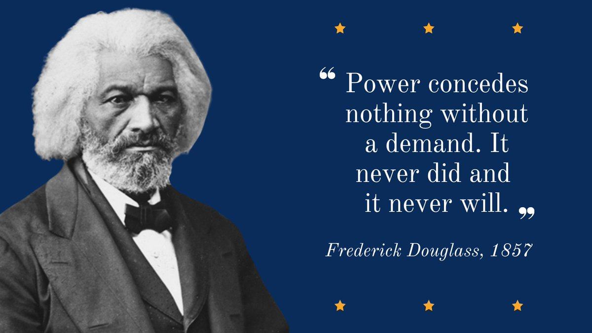 Born into slavery in Maryland, Frederick Douglass later settled in New Bedford, where became a preeminent leader of the abolitionist movement and fierce advocate for women's suffrage and racial equality. https://t.co/xEqMKMMqv7