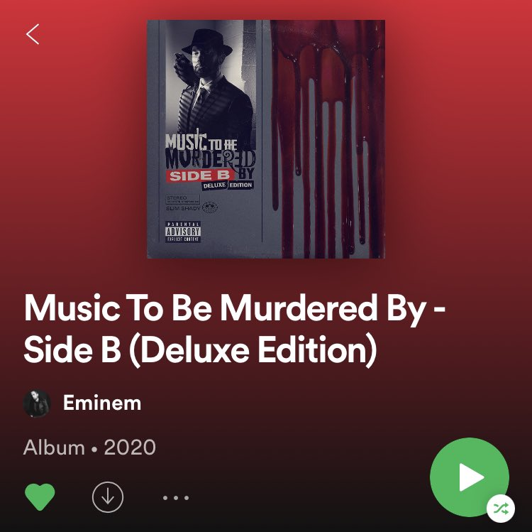 Y'all are going to hate me but this album is actually quite decent @Eminem https://t.co/08AaP03ehB