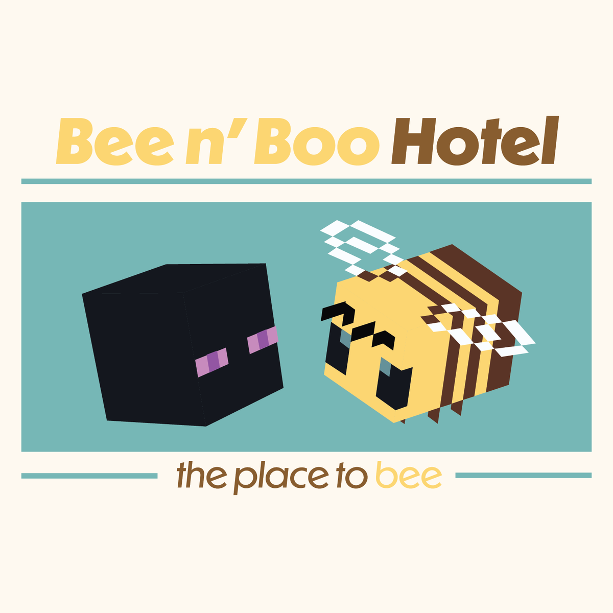 Bee n' Boo Hotel Logo!! one with transparency and one without! #beenboo #beenboologo #tubbofanart (rts okay!)