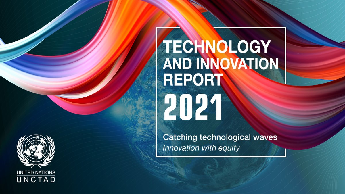 #Breaking: @UNCTAD's Technology and Innovation Report 2021 examines the crucial issue of technological change and inequality.  It warns of serious implications for developing countries if the new technological wave overwhelms poorer communities.  #UNCTADTIR