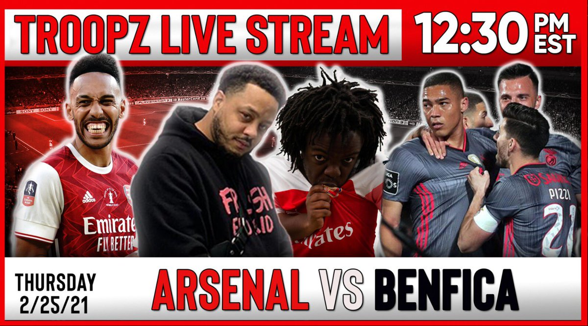 THE BIG ONE TOMORROW‼️  📍 @YouTube Channel: #TroopzTV  ⏰ 9:30AM PST  ⏰ 12:30PM EST  ⏰ 5:30PM UK  #AFC #COYG #AFCSLB #UEL