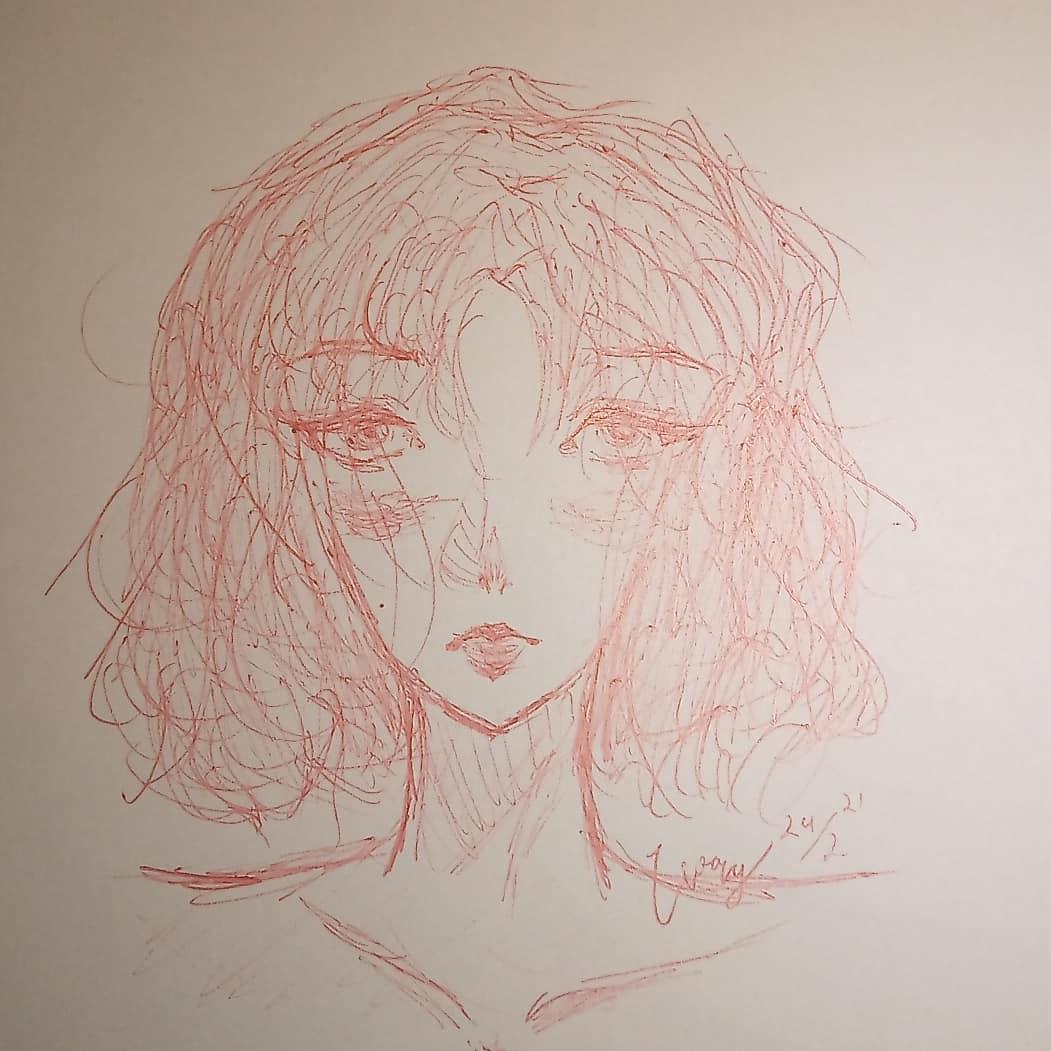 hi! it's ivory <3 the eyes are kinda off sorry hehe ( ;∀;) i hope u like it!!   #smallartist #art #artoftheday #artwork #drawing #draw #drawings #traditionalart #hair #hairdrawing #support #girl