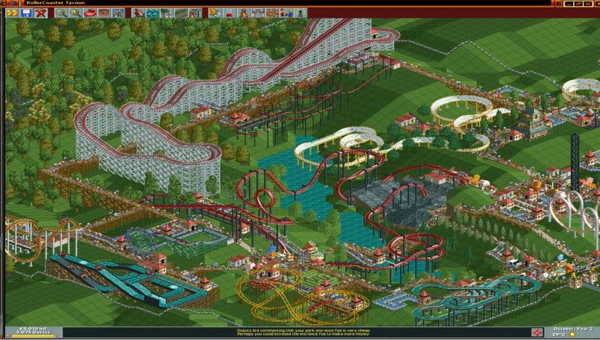 (PCDD) RollerCoaster Tycoon: Deluxe $1.19 (DRM: Steam) via Fanatical. 5