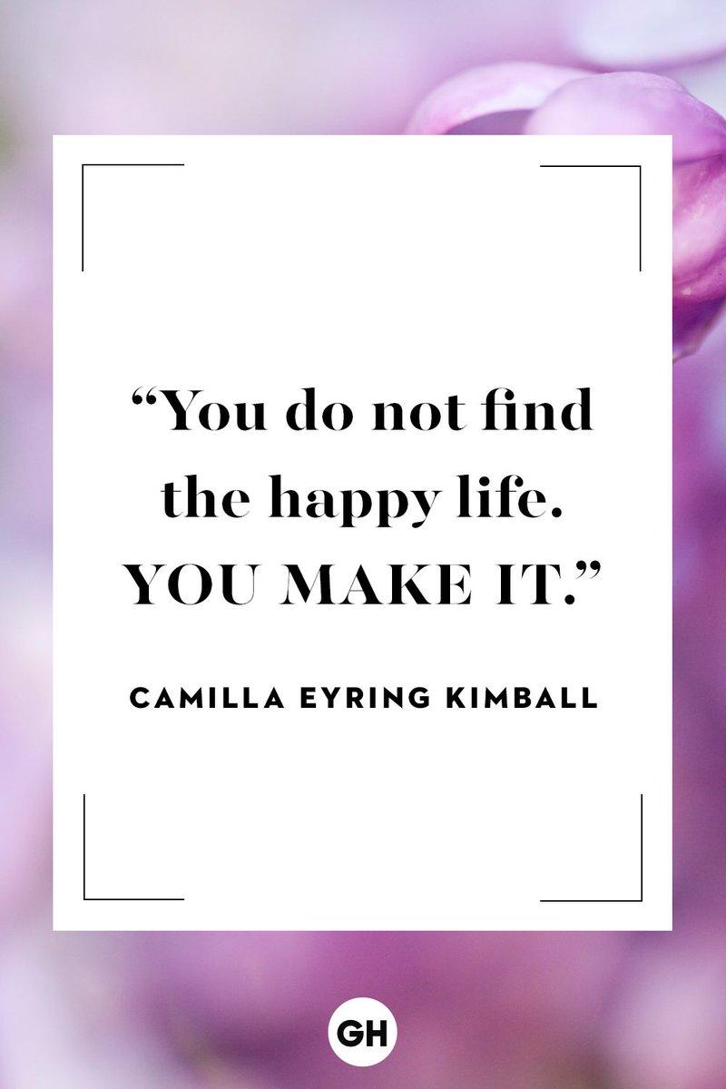 """You do not find the happy life. You make it."" — Camilla Eyring Kimball  #WritingCommunity #writingcommunity #quotes #quoteoftheday   Please #Like & #Retweet ⬇️😀⬇️"
