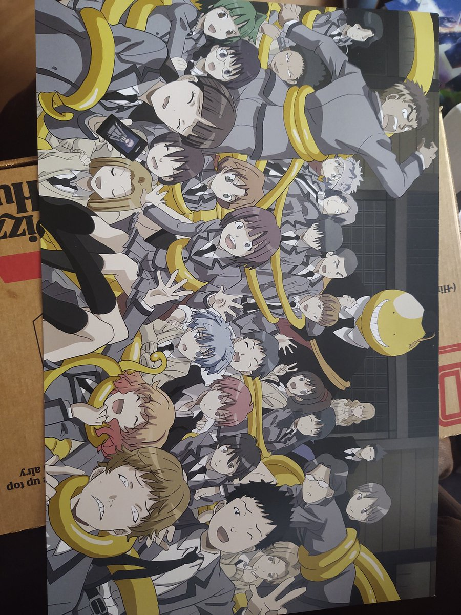 My mom just got my this print after we finished watching #AssassinationClassroom  together My mom has never really been one to watch anime but she watched this one with me from start to finish and really grew to love the show and its characters Thank you to everyone who made it.