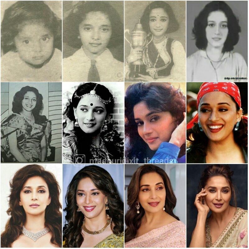 @MadhuriDixit Baby to Lady ♥👑
