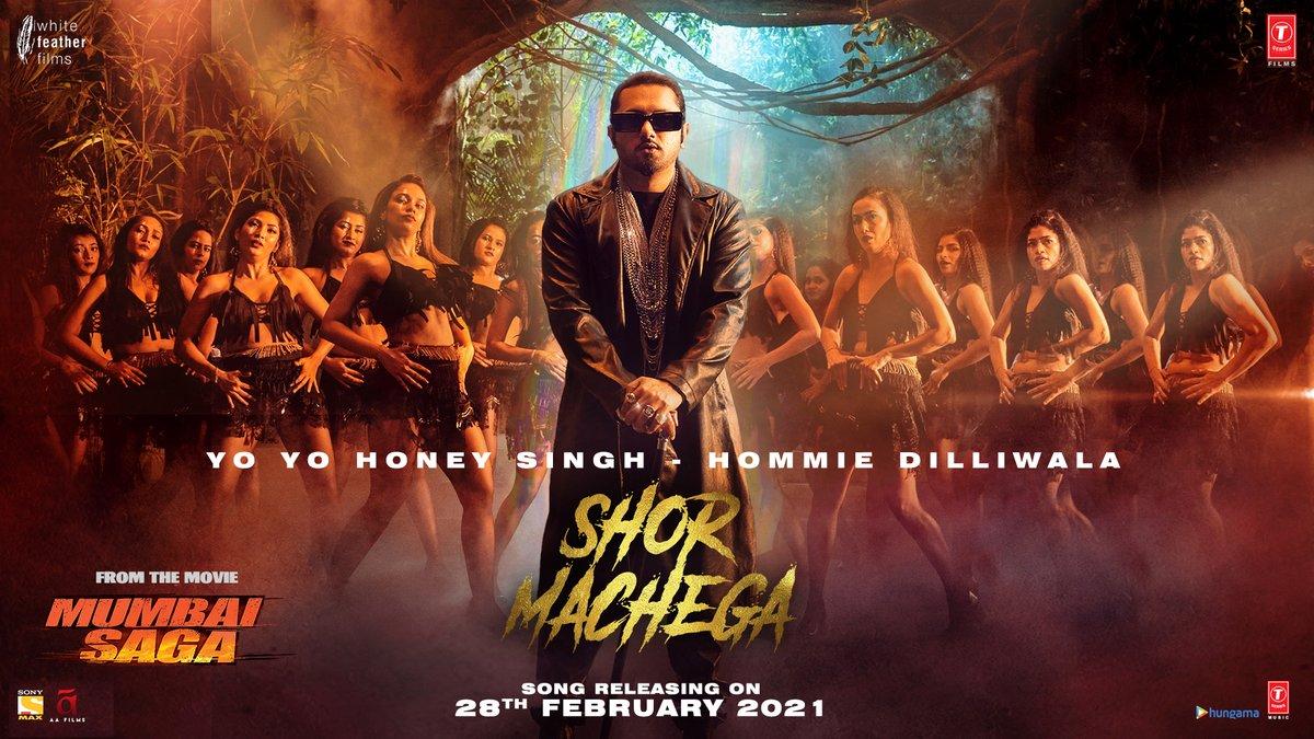 Put on those dancing shoes and tayyari kar lo with full zor.. Kyunki ab machega #MumbaiSaga aur mera shor..  #ShorMachega out on 28 Feb   @TheJohnAbraham @emraanhashmi @_SanjayGupta #BhushanKumar @TSeries #HommieDilliwala#WhiteFeatherFilms @MsKajalAggarwal @prateikbabbar