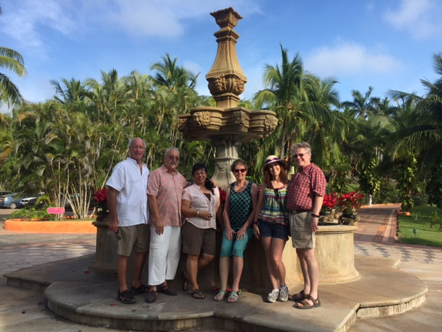 With friends from church visiting a ritzy resort on the coast (about $4000/night, we didn't stay!).   #friends #Mexico