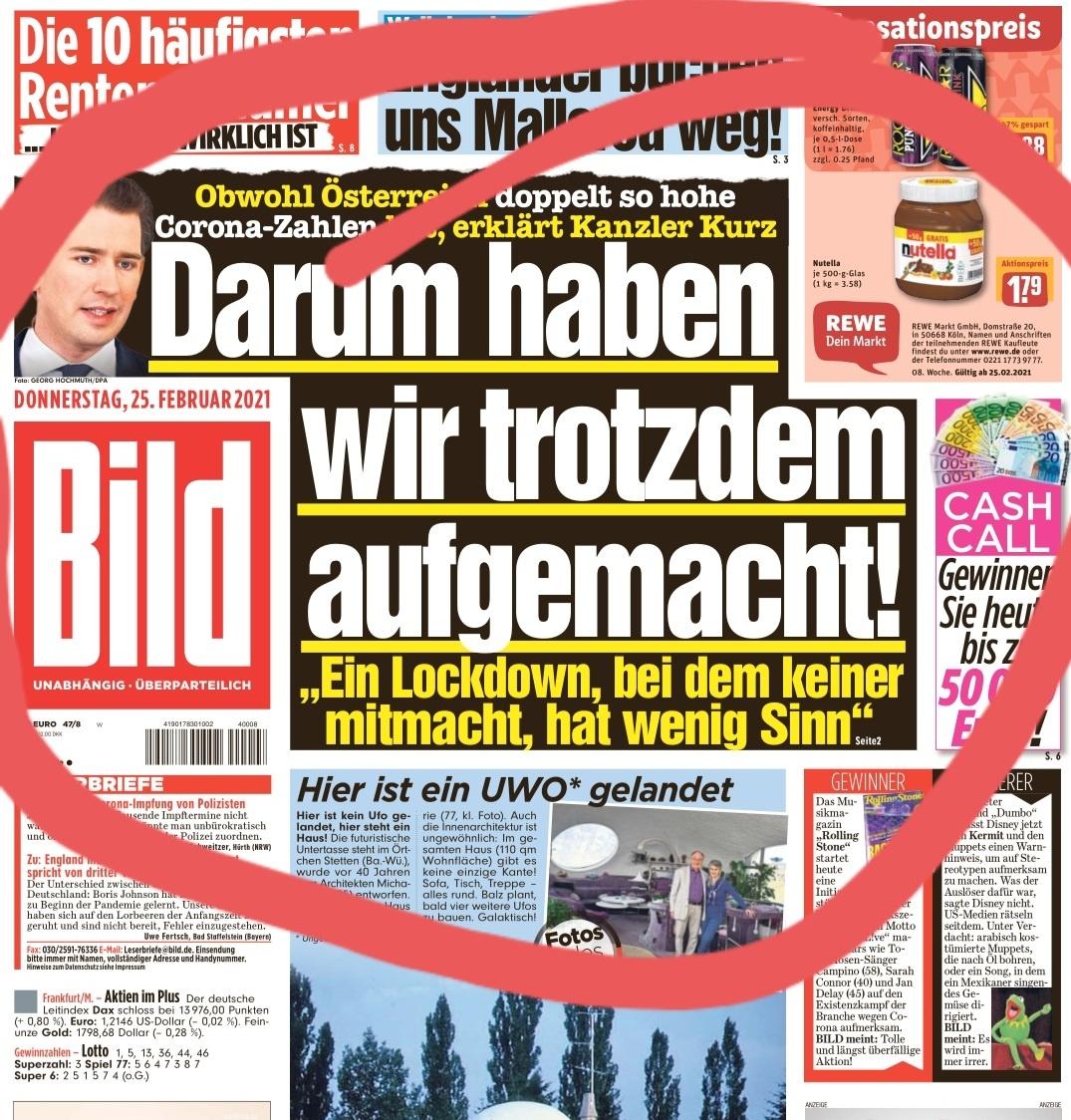 """#Lockerungen in #Österreich """"Ein #Lockdown, bei dem keiner mitmacht, macht keinen Sinn!"""" Während der Deutsche weiter brav folgt! Merkt ihr was?"""