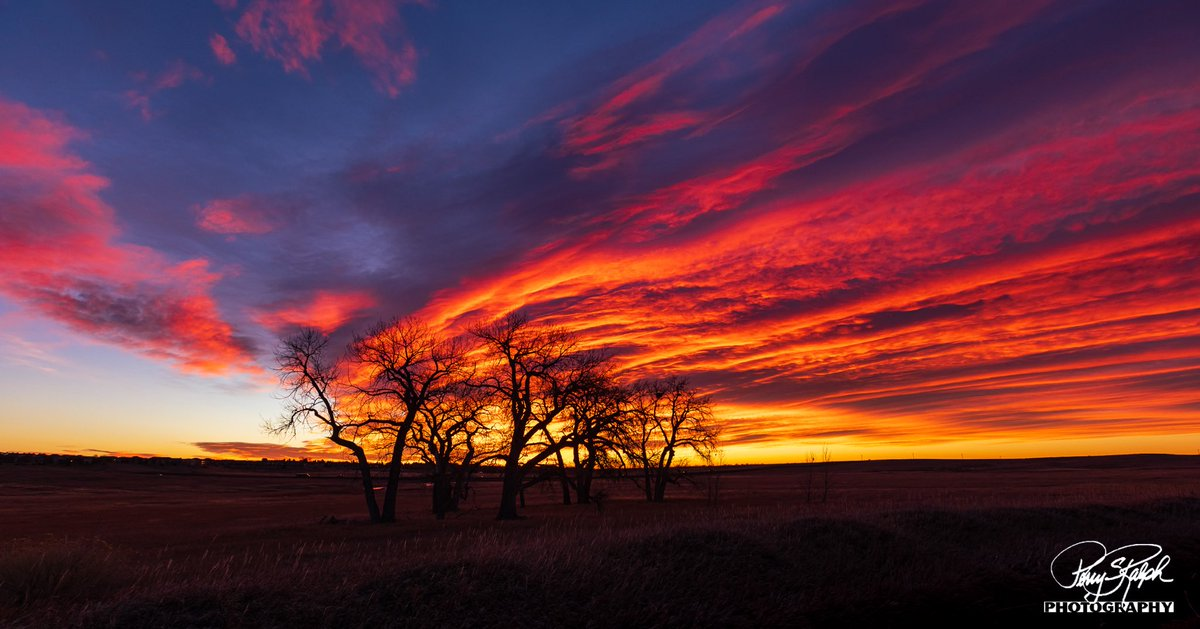 I first saw this #colorful #colorado #sunrise #photography on the back of my camera, it looked like long red hair flowing in the wind.  So Thats it's name. It is south of Ft Collins #landscapephotography #sky #longexposure Check out the sunburst sunrise taken 18 min later.