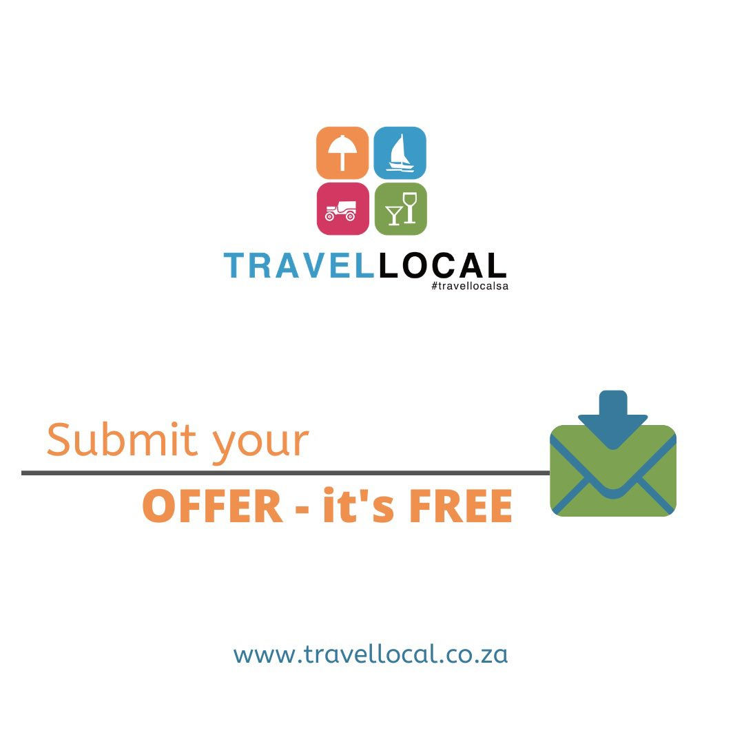 Submit your Offer for FREE on    Tag or mention us on Social Media to get featured.   Support Local Business and Travel Local. Now is the time to help each other!  #travellocalsa #deals #specials #lockdown #travel
