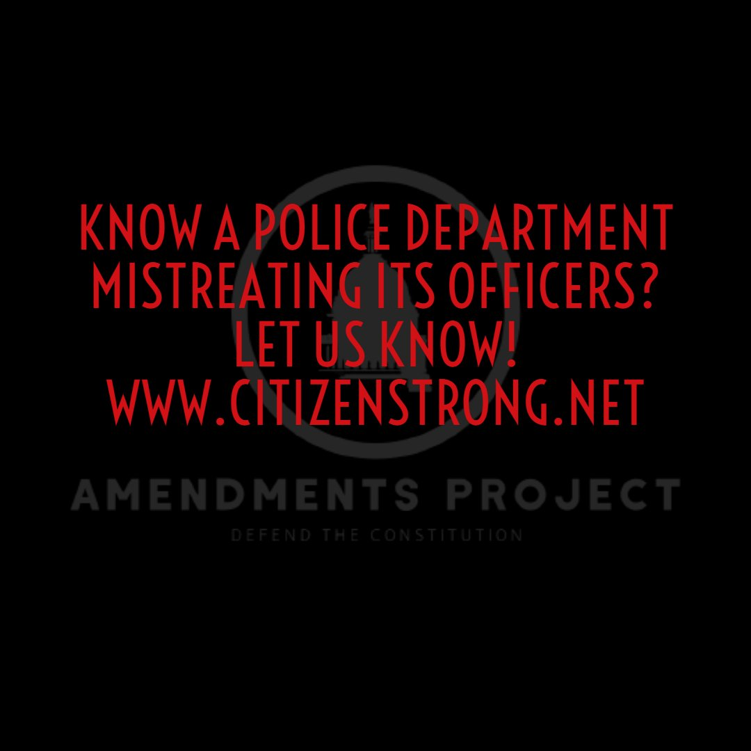 know a Department mistreating its Officers? Let us know!  #cops #police #thinblueline #lawenforcement #policeofficer #deputy #backtheblue #bluelivesmatter #sheriff #military #usa #firstresponders #polizei #officer #policia #instapolice #blueline #instacops