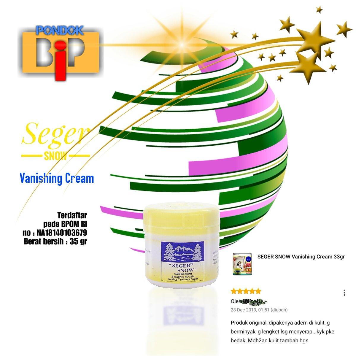 Seger Snow Vanishing Cream Terdaftar pada BPOM RI #diRumahAja #BanggaBuatanIndonesia #segersnow #skincare #vanishing #moisturizer #pelembab #beauty #kecantikan #perawatanwajah #GratisOngkir #GratisOngkirXtra #ShopeeID #TokopediaWIB #BebasOngkir #Bukalapak #OngkirGratis