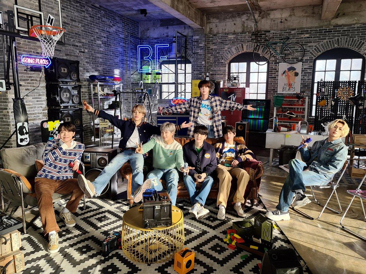 💜#BTS_BE 오늘의방탄💜 210224 MTVUnplugged   잠시  Blue & Grey  Life Goes On  Dynamite  Fix You   #BTSonMTV #7방탄완전소중  @BTS_twt