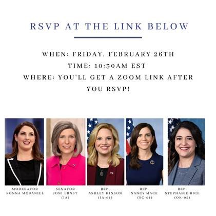 Joe Biden has proven he cares more about opening our borders than opening our schools, and our kids are suffering because of it.  Tune in on Friday as I discuss with some fantastic working moms @joniernst, @hinsonashley, @NancyMace and @stephaniebice.
