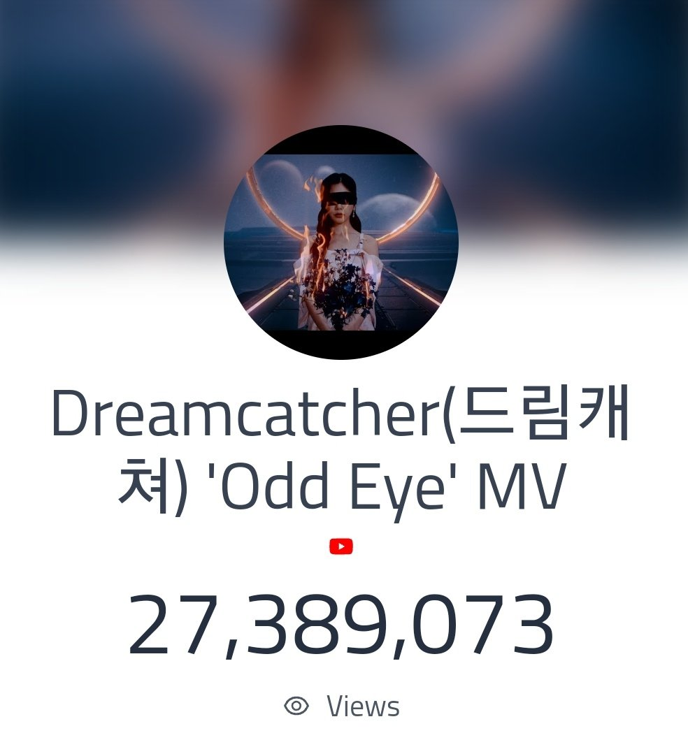 Congratulations Somnias!!  Odd Eye surpassed 27 million views!   2,610,927 views to 30M views 👀  Road to 30M views! ~ Fighting! ✊🏻 #Dreamcatcher #드림캐쳐 @hf_dreamcatcher
