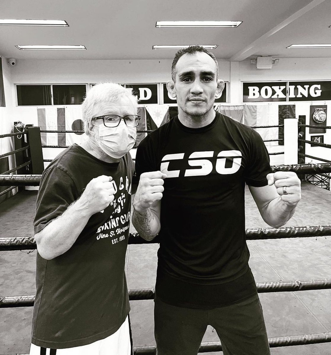 Great first day, Champ! @TonyFergusonXT @ufc @danawhite @WildCardBoxing1