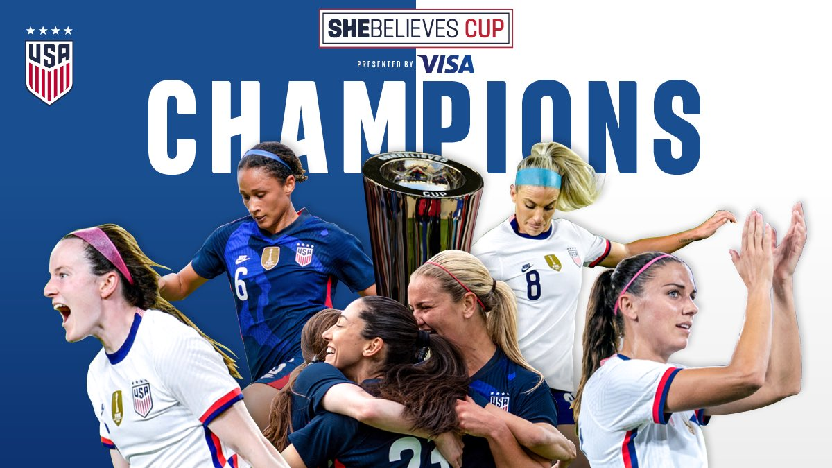 🏆 GOING BACK-TO-BACK 🏆 Our 4th #SheBelievesCup title and first in consecutive years.