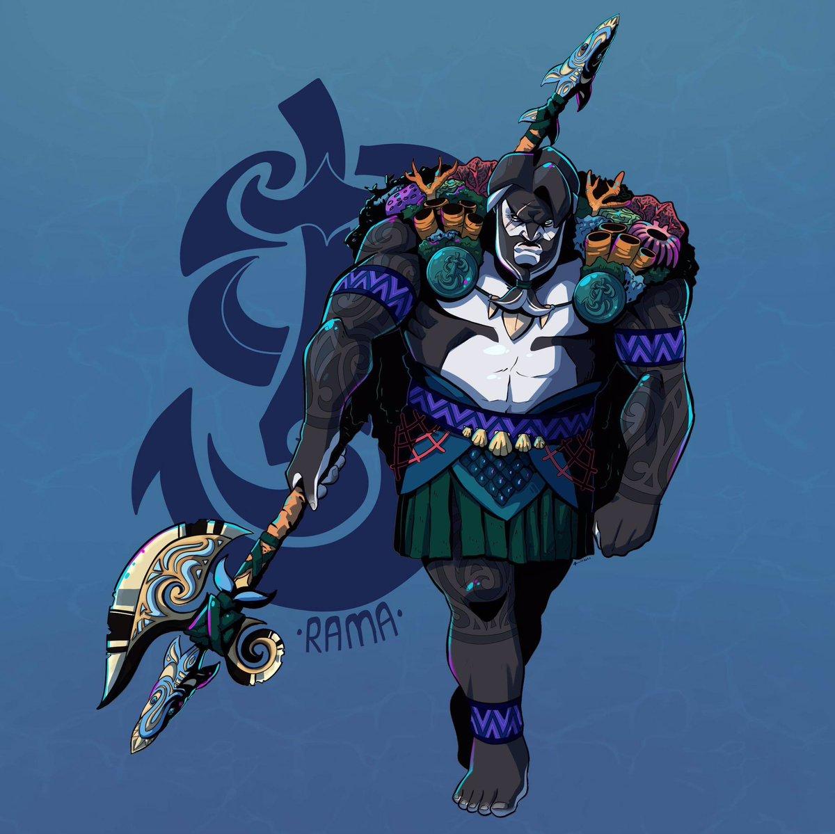 New dnd char! Meet My Barbarian: Rama! 🌊 #dndartists #DnDcharacter