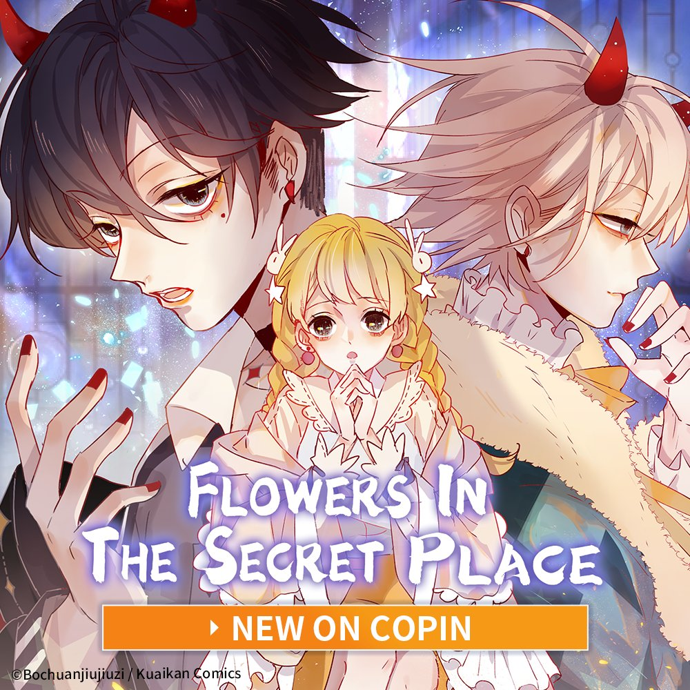 🆕on Copin: Flowers in the Secret Place  A ghoul prince is now after Gu Yu's soul, but she needs to save her friend before he gets her! But... why does he smell like her friend?  🎉15 episodes free to read!   #fantasy #romance #copincomics #webtoon