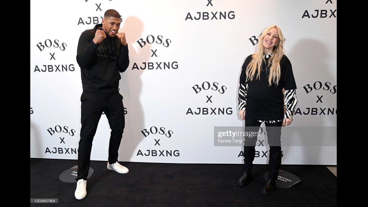 Anthony Joshua and Ellie Goulding attend the unveiling of the second Anthony Joshua capsule collection, BOSS x AJBXNG, at the BOSS Store in London, England. 🥊  More 📷 #BOSSxAJBXNG 👉  @elliegoulding #BOSSsports