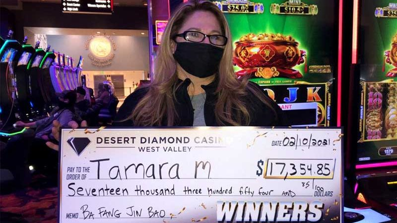 It looks like Lady Luck made a stop at the #JackpotValley 😉 Cheers to Tamera on her $17,354 jackpot!! Winning sure does look good on you. #WinningWednesday #winning