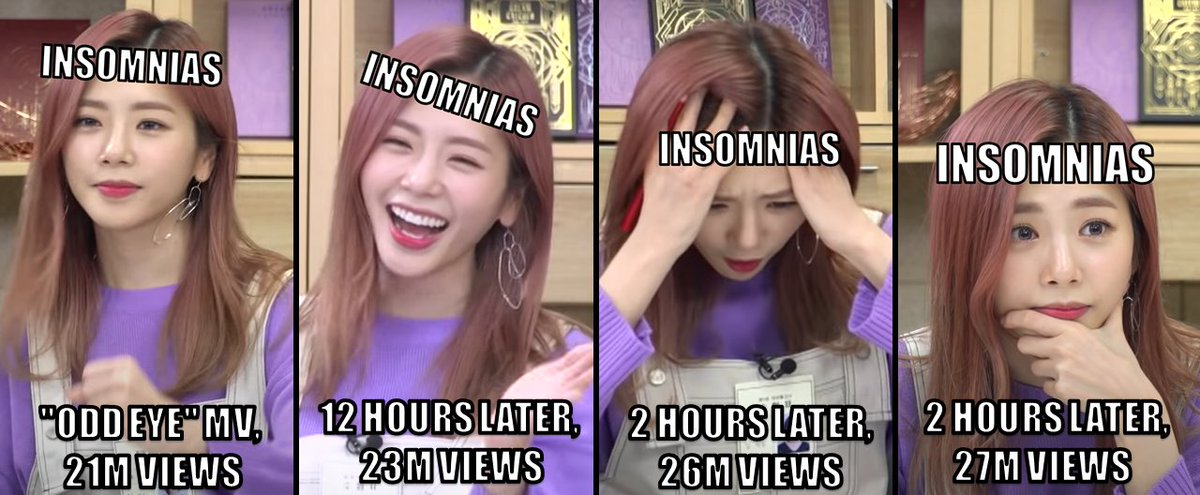 """How InSomnias have been reacting to """"Odd Eye"""" MV's YouTube views today.  #드림캐쳐 #유현 #Dreamcatcher #OddEye"""