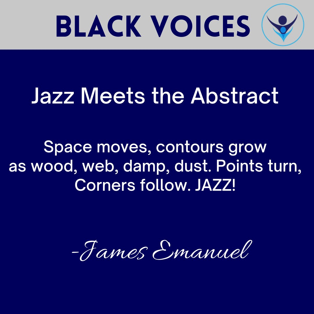 """Did you know that scholar and poet James Emanuel created a new genre of poetry? His """"jazz haikus"""" were performed alongside live musical accompaniments.  #BlackHistoryMonth #BlackVoices #BlackHistoryMonth2021"""