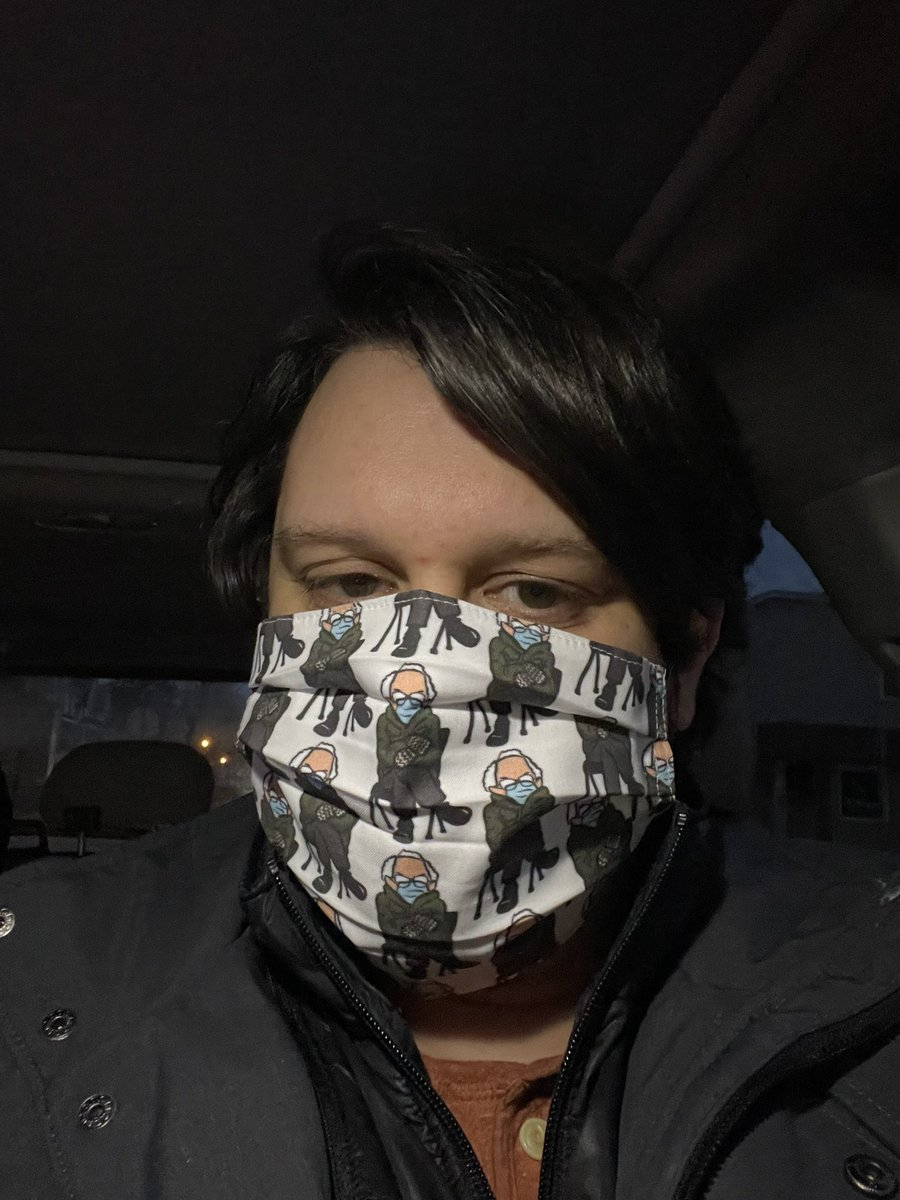 Got that new mask. #culturalicon #berniesMittens