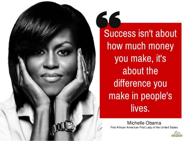 Follow @MichelleObama's advice and work to make a difference in people's lives #BlackHistoryMonth #AliefCares