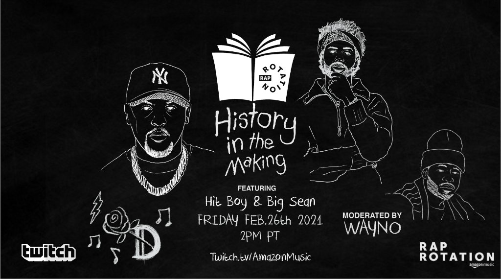 No matter how their visions differ, Black leaders share the goal of uplifting communities.  @BigSean and @Hit_Boy are committed to serving their hometowns and the music industry. Tune in to Friday's #HistoryInTheMaking chat with @Wayno119 to see how they're making a difference.