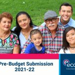 Image for the Tweet beginning: ECCV today published its Pre-Budget