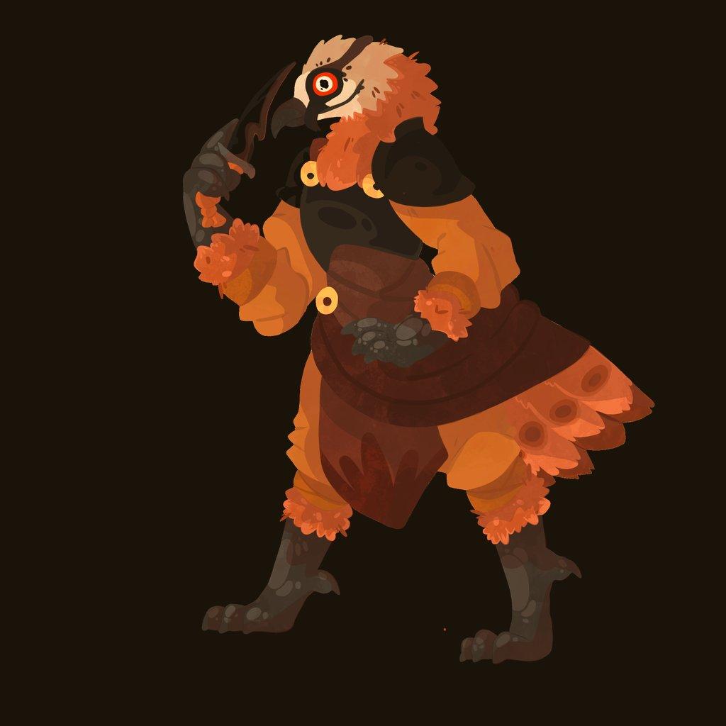 Bearded vulture dnd oc #dndartists #DnD #beardedvulture #digitalart #Procreate