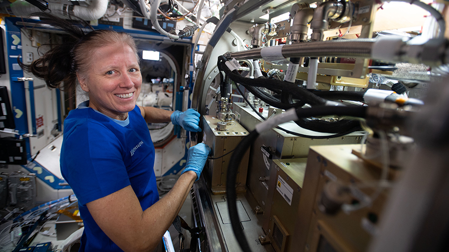 The Exp 64 crew is revving up spacewalk preps while juggling advanced space science aboard the station today. More...