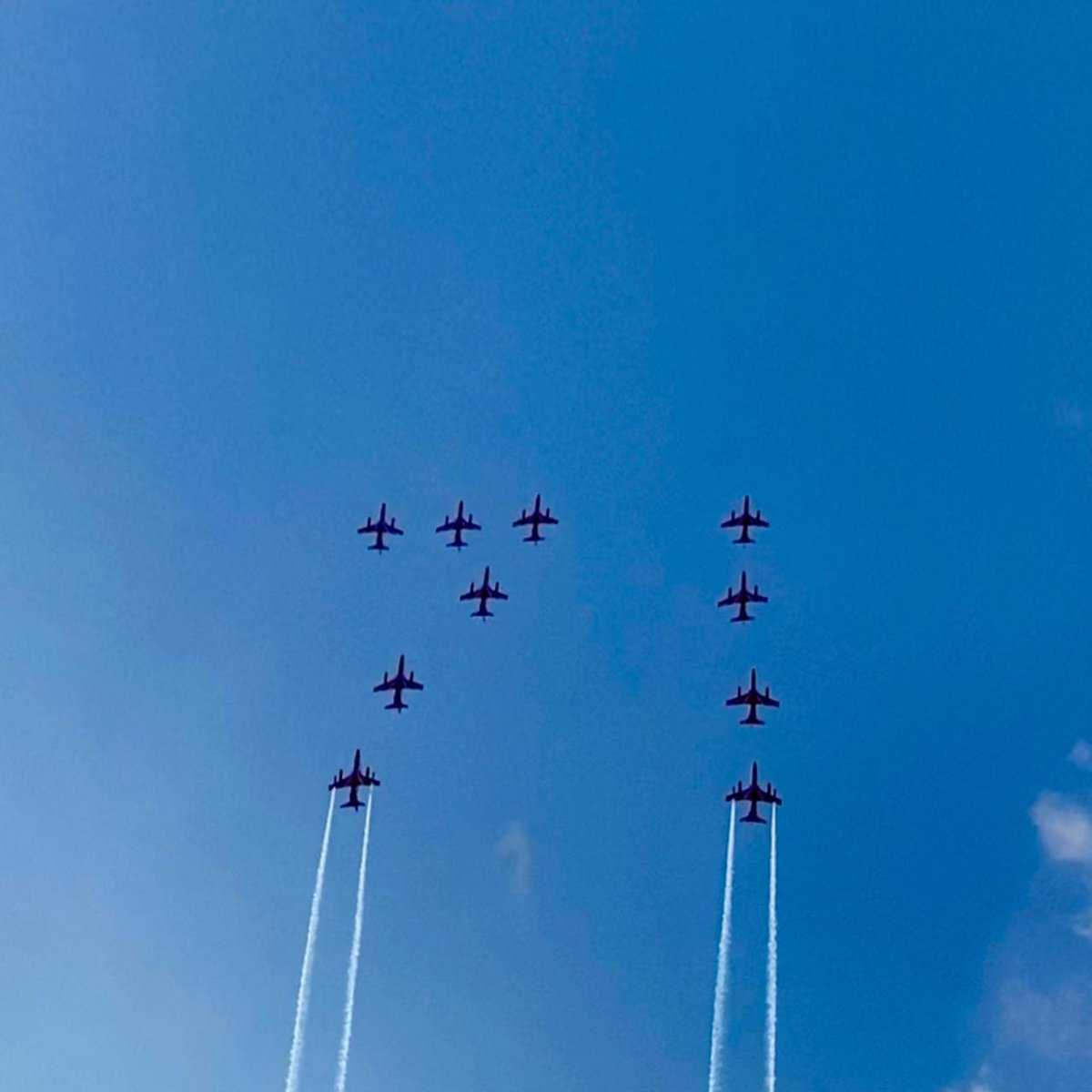 #SwarnimVijayVarsh  Here's a look at some visuals from the Flypasts by @Suryakiran_IAF from 17 to 24 Feb 21 to mark the Golden jubilee year of 1971 Indo- Pak war.  #IndianAirForce