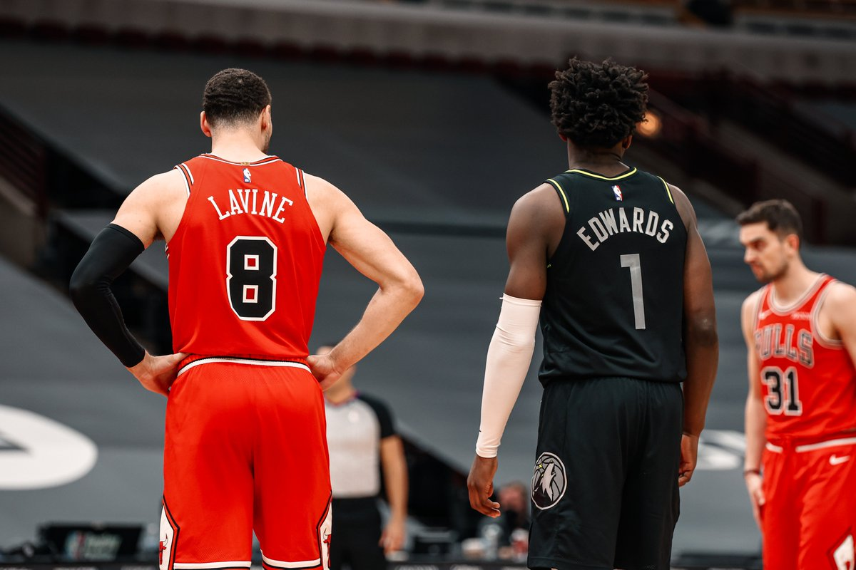 """""""I'm not satisfied."""" - All Star @ZachLaVine after the Bulls took their 5th win in 6 games https://t.co/PgTQS2DHYm"""