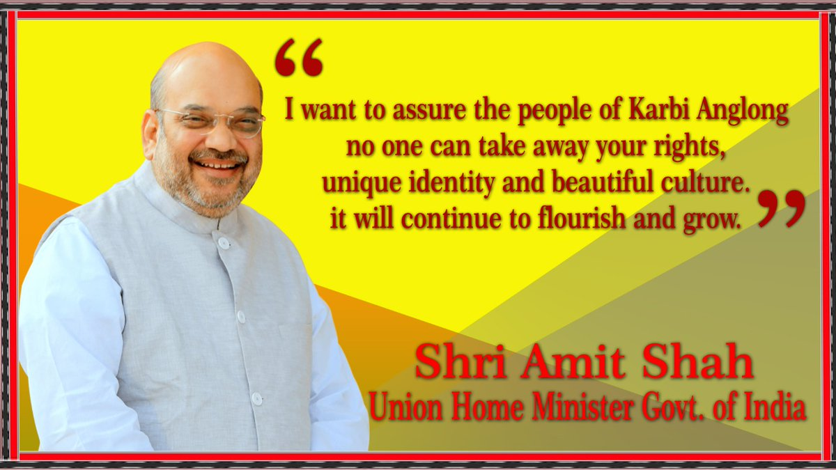 Come and join as Honble Union Home Minister @AmitShah ji addresses a mammoth Unity, Peace, and Development Rally at Nurak Aklam, Den Arong. #ShahWithKarbiAnglong