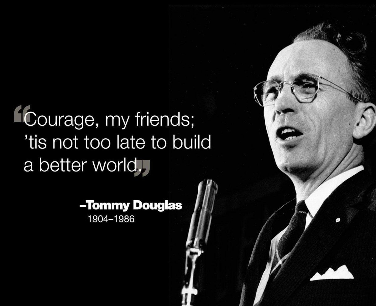 Today marks exactly 35 years since the passing of Tommy Douglas.  The father of universal healthcare in Canada.  Today, we could have honoured his legacy and vision with universal pharmacare. @TommyDTigers @StoonPubSchools #WeRemember