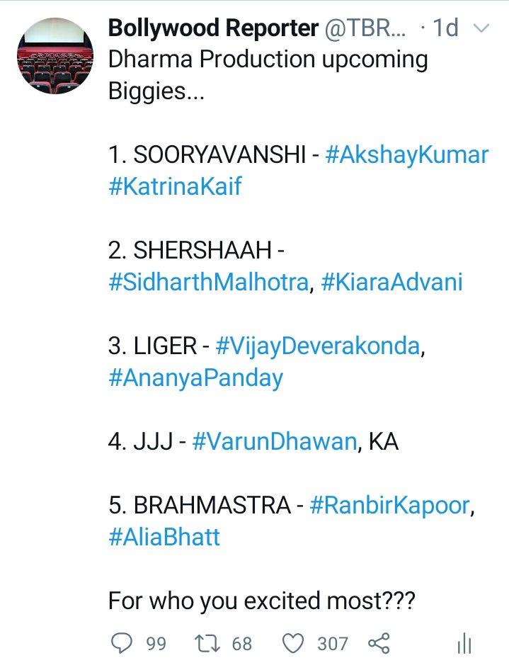 Boycott!!! Fans are no mood to boycott they are excited to watch fav Superstar on big screen.....  What you thinks... FANS BOYCOTT  OR  EXCITED  #AkshayKumar #RanbirKapoor #SidharthMalhotra #VarunDhawan #VijayDeverakonda #KatrinaKaif #AliaBhatt #ananyapanday