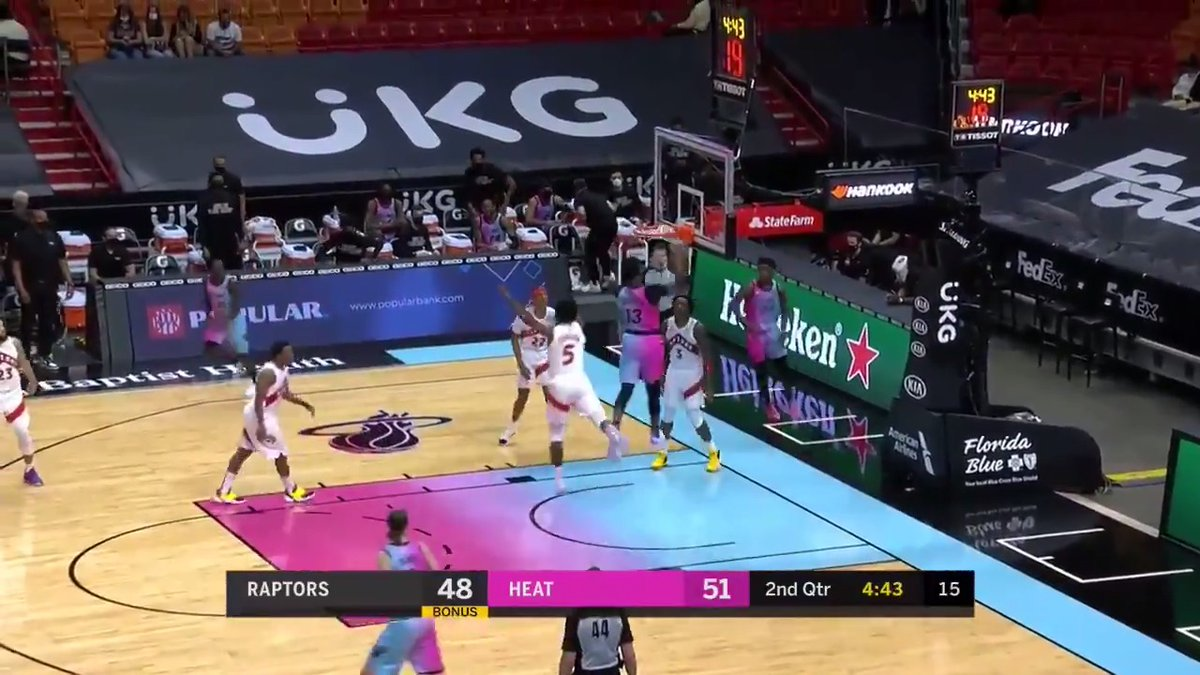 Bam had his hands all over this W 💥  19 Pts / 12 Rebs / 4 Asts / 1 Blk / 1 Stl https://t.co/WL3nS57wZK