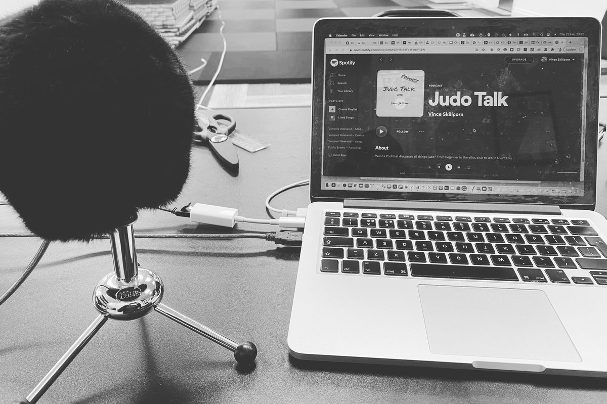 Preparing to record episode number 2 of the #judotalk podcast.   I will be sharing episode 1 on Friday.   #judo #judoka #podcast #spotify #judotraining #judoonline #coach #coaching #martialarts #martialartsonline #woking #bjj #mma