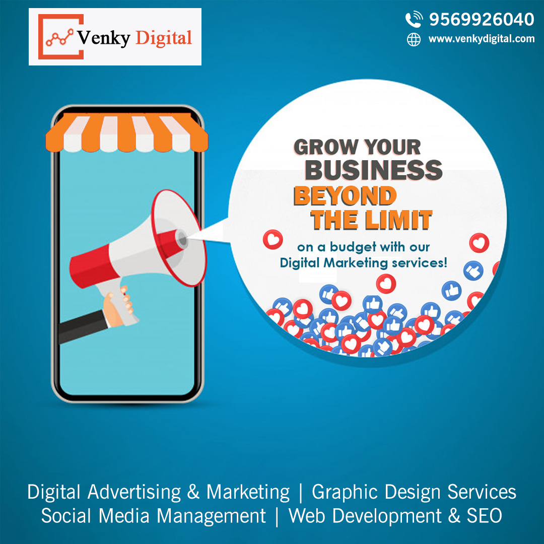 We are a #digitalmarketingagency with experience and well trained team for #searchengineoptimization #SMO #SEM #SMM #PPC. #videomarketing   📞Call us: 9569926040  #digitalmarketingagency #digitalmarketing #venkydigital #digitalmarketingexpert #digitalmarketingservices